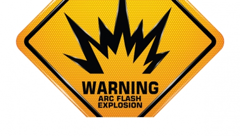 Arc Flash Warning Sign for Workplace Safety