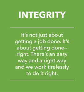 Integrity Data Aire core value