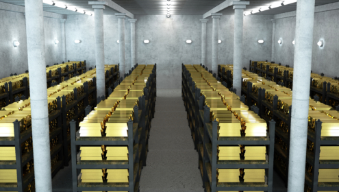 Federal Reserve Bank gold vault